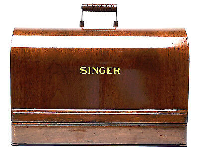 1920s SINGER Sewing Machine Bentwood Case 3/4 3 quarters 99k VS-3 28 128K 3FTERS