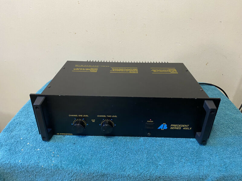 AB International Precedent Series 400LX Professional Rack Mount Power Amplifier