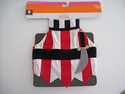 Pet Costume Pirate Size XS Dog/Cat 1 Piece Halloween Outfit - NEW](Dog Pirate Outfit)