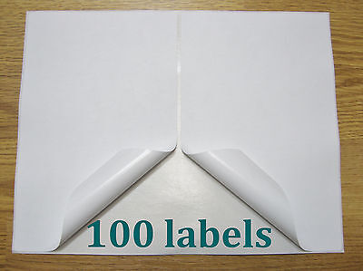 100 Shipping Labels Self Adhesive Printer Paper Paypal Ebay Postage 8.5 X 5.5