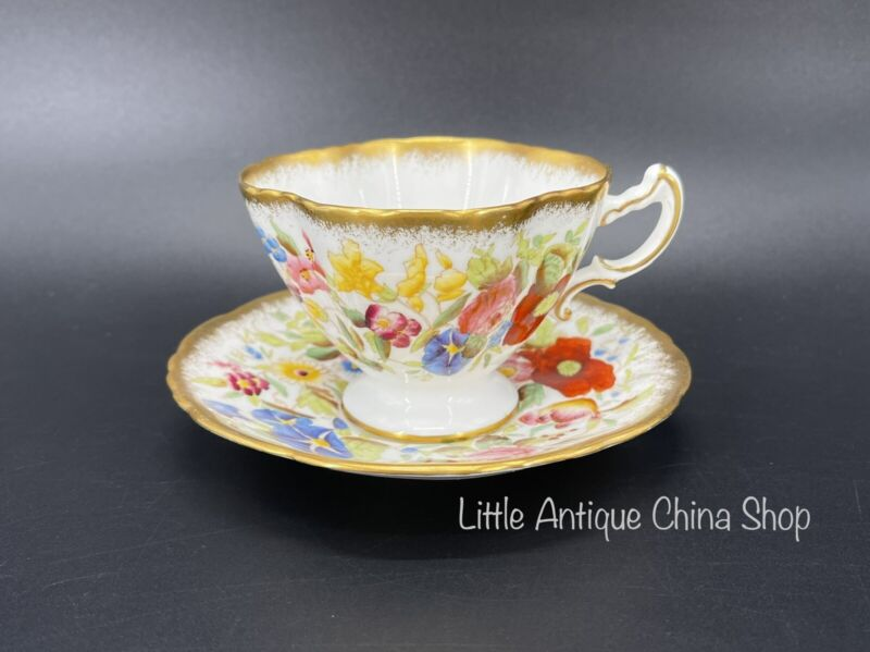 Hammersley Queen Anne Tea Cup Saucer Set Bone China England