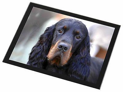 Gordon Setter Dog Black Rim Glass Placemat Animal Table Gift, AD-GOR2GP
