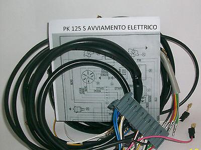 Sistema Eléctrico Eléctrica Alambrado Vespa Pk 125 S Arranque + Esquema