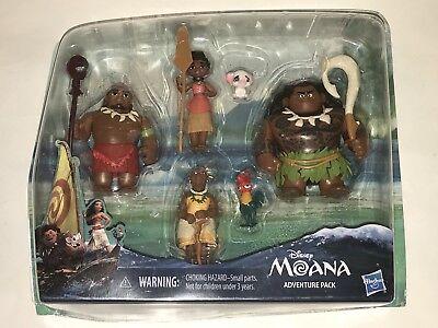 Hasbro Disney MOANA PVC Figures Toys ADVENTURE PACK Maui Heihei Gramma Tala +, usado comprar usado  Enviando para Brazil