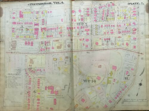 1911 POINT BREEZE PITTSBURGH PA CHATHAM UNIVERSITY FIFTH AVE MANSIONS ATLAS MAP
