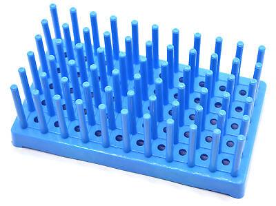 Dry Test Tube Rack (Blue Plastic Test Tube Peg Drying Rack Holds 50 16mm Test Tubes - Eisco Labs )