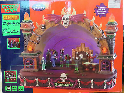 Symphony of Screams Lemax Spooky Town Halloween Animated Orchestra Lights &Music (Halloween Symphony)