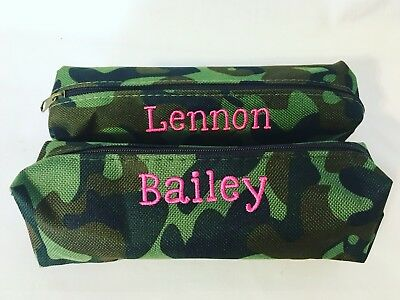 Personalized Camouflage Camo Pencil Or Makeup Case - Personalized Pencil Case