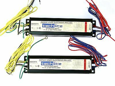 2x Tech-lite Instant Start Electronic Ballast T8 Lamps 277v Volts