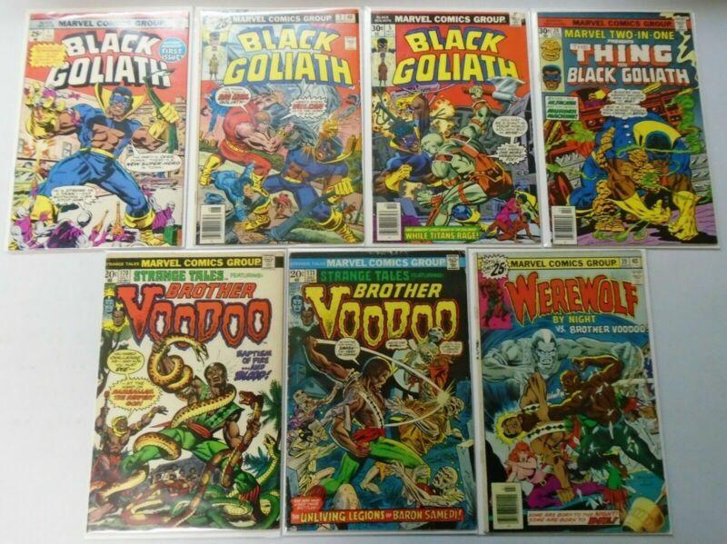Bronze Age Black Superhero Comic Lot, 7 Different Average 5.0 Range 4.0-6.0