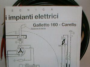 impianto elettrico electrical wiring moto guzzi galletto 160 +