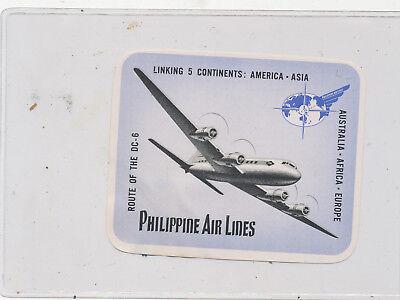 C8623    Airlines  Airways Luggage Sticker Decal Philippine Air Lines
