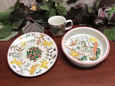 TIFFANY & CO. 3 Piece Tiffany Playground Child's Dinnerware Set - Free Shipping!
