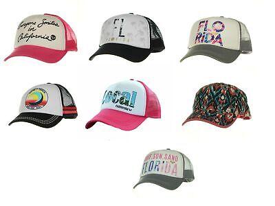Womens Trucker Hat (Roxy Women's Trucker Hat Mesh Back Snap Adjustable Florida California)
