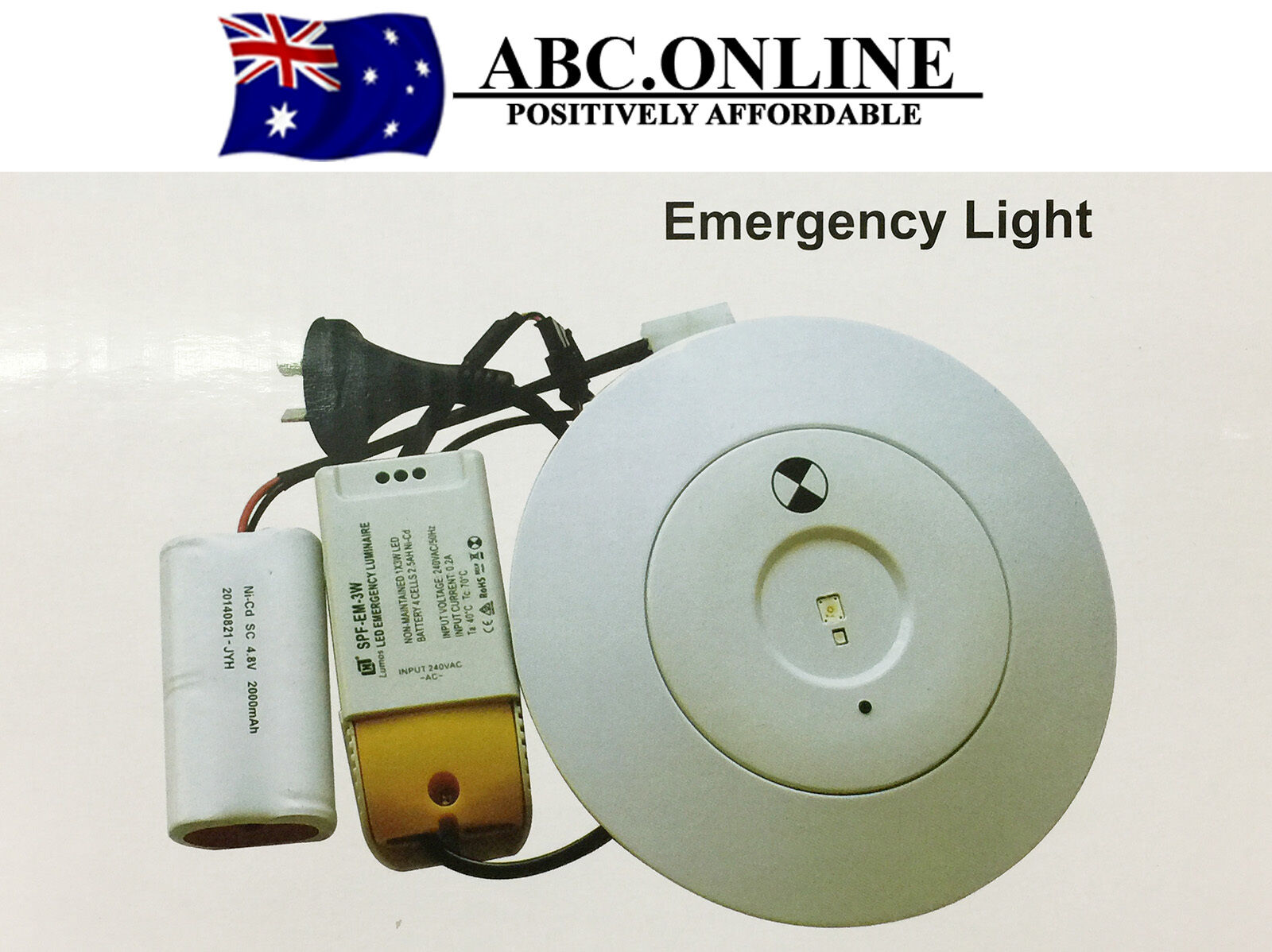 Ceiling Lights That Run On Batteries : Emergency led exit light sign wall ceiling running man battery w spitfire