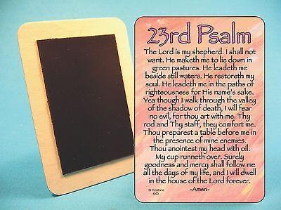 23Rd Psalm    Fridge Magnet   Inspirational Poem   Sku  640