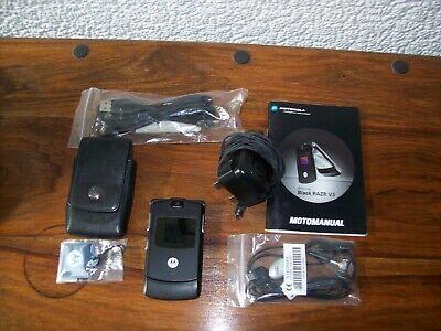 MOTOROLA BLACK RAZR V3 MOBILE PHONE (VODAFONE)