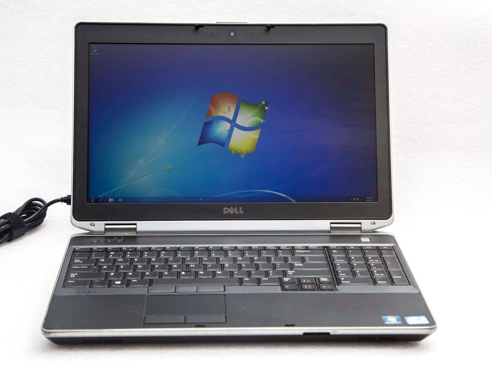 """Dell Latitude E6530 15"""" Core i7-3740QM 2.7GHz 8GB 128GB SSD NVidia 1080p Laptop"""