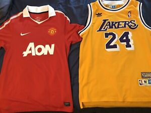 Selling Manchester United and Los Angeles Lakers Kobe Bryant Jersey
