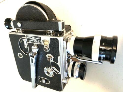 Classic Paillard Bolex H-16 Camera, with Case, 3 Pizar/Yvar Lenses & Accessories