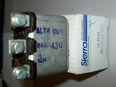 Sierra 18-5723 Chrysler REPLACES Voltage REGULATOR FIELD RELAY