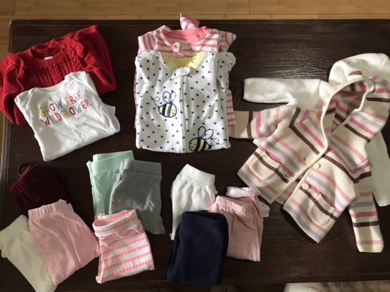 Baby Girl Clothes Lot 3-6 Months Fall Winter-Mostly Gap and Old Navy
