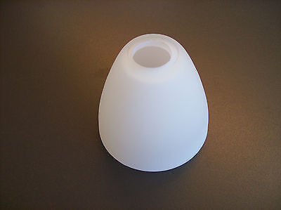 Glas Lampenschirm Ersatzglas Kegel mattglas weiß G9 Lochmaß Fassung ø 24mm