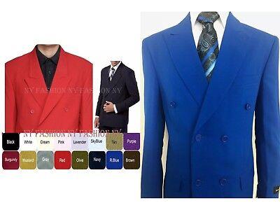 Men's 2 Piece Double Breasted Solid Color Suit   Style 901P 2 Piece Mens Suit