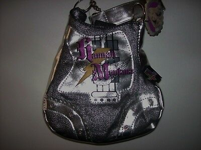 Hannah Montana Purse Handbag Girls Guitar Denim Foil Chain Black NWT Hannah Montana Purse Handbag