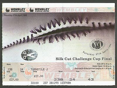 1996 RL CHALLENGE CUP FINAL - RARE UNUSED MATCH TICKET