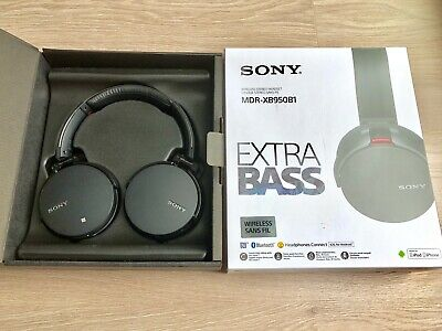Sony MDR-XB950B1 Wireless Bluetooth Headphones Over Ear Extra Bass Black