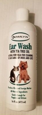 Tomlyn Ear Wash w/tea tree oil Natural Formula For Dogs & Cats.NEW.  (E16#173dr)