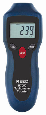 Reed R7050 Compact Photo Tachometer And Counter. Non-contact Rpm Measurements