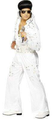 Mens Jewelled Elvis 1950s 50s Celebrity Musician Fancy Dress Costume Outfit M-L](50s Outfits For Men)