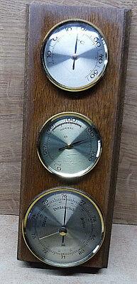 11094. Barometer / Thermometer / Hygrometer  -  Holz Eiche  -  27,5 cm