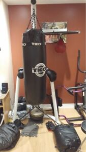 Boxing bag and Stand with Speed bag & Gloves