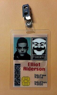 Mr.Roboter Id-Plakette - Fsociety Elliot Alderson Kostüm Requisite