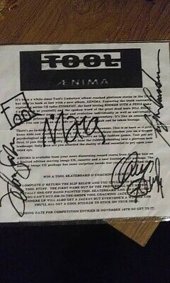 Tool - band signed poster by Adi Granov @ Charlotte 1-26-16