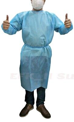 Dental 20pcs Disposable Surgical Gown Level 2 Isolation Gowns Blue