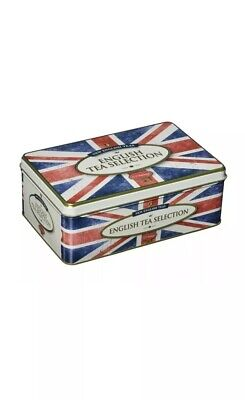 New English Teas Vintage Style Union Jack Tin 100 English Breakfast Teabags