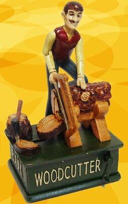 Mechanische Spardose Holzfäller Weihnachten Geschenk Vintage Deko Spielzeug