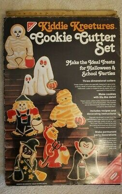 Vtg Chilton Kraft KIDDY KREETURES HALLOWEEN Cookie Cutters Made In the USA 1979