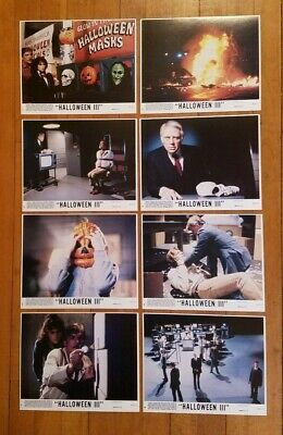HALLOWEEN III 3 SEASON OF THE WITCH 1982 ORIGINAL COLOR COMPLETE 8x10 STILL SET! - Origin Of Halloween Colors