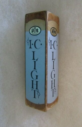 SMALL WOODEN IRON CITY LIGHT BEER TAP HANDLE