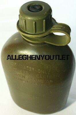 USGI US Army Military 1 QUART Hard Rigid Plastic 1QT CANTEEN, OD w NBC CAP GC (Canteen Plastic)