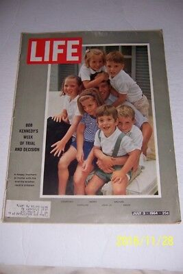 1966 LIFE Magazine BOBBY KENNEDY John Jr CAROLINE A Week Of Trial And Decisi