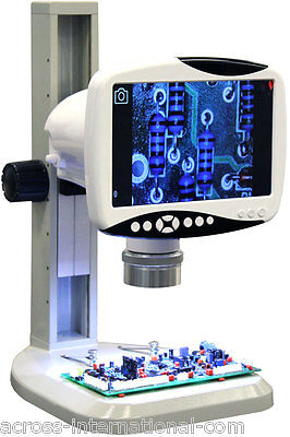 Digital 76x Stereo Scope Microscope W 9 1280x800 Hd Lcd 5mp Camera 720p Video