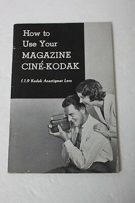 Instructions and guides Kodak Magazine Cine-Kodak