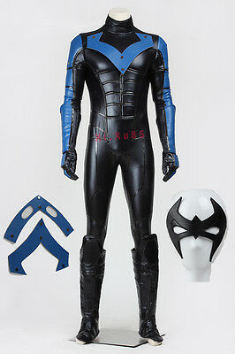 High Quality Halloween Cosplay Batman Young Justice Nightwing  Costume Full Set