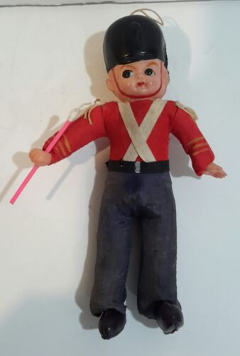 Rare Vintage Baton Band Leader Toy Celluloid Head Straw Body Made Japan 8 1930s - $7.09